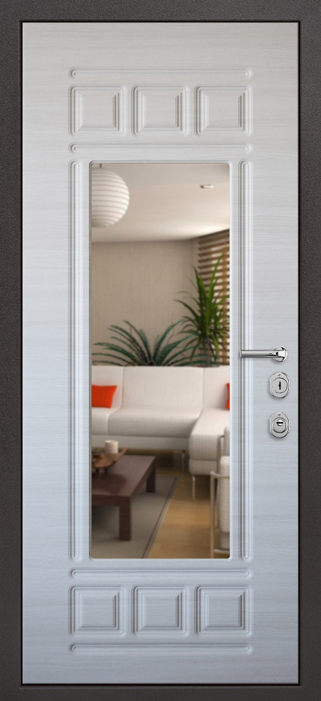 стальная дверь с зеркалом 15000